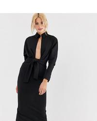 Vestido camisa negra de Asos Tall