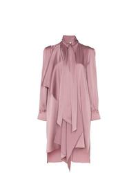Vestido camisa rosada de Fendi