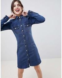 Vestido camisa vaquera azul marino de Esprit