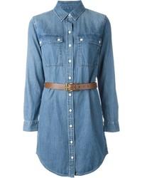 Vestido camisa vaquera azul de Michael Kors