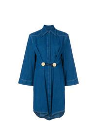 Vestido camisa vaquera azul de MM6 MAISON MARGIELA