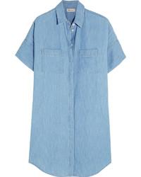 Vestido camisa vaquera celeste de Madewell