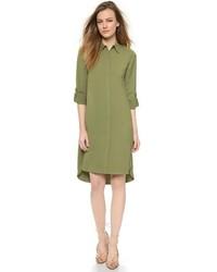 Vestido camisa verde oliva de Alice + Olivia