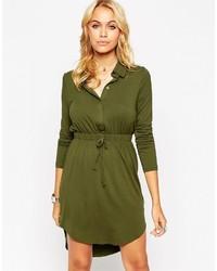 Vestido camisa verde oliva de Asos