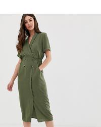 Vestido camisa verde oliva de Asos Tall