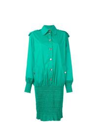 Vestido camisa verde de Moschino Vintage