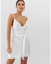 Vestido camisola blanco de ASOS DESIGN