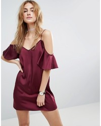Vestido camisola burdeos de Asos