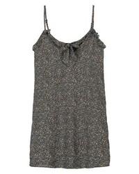 Vestido camisola con print de flores en gris oscuro de Fashion Union Tall