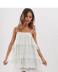 Vestido camisola de encaje blanco de White Sand