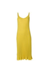 Vestido camisola de punto amarillo de Marni