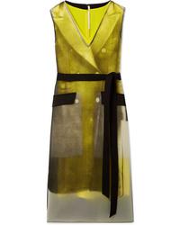 Vestido camisola de satén mostaza de Peter Do