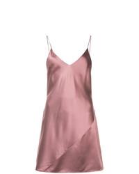 Vestido camisola de satén rosado de Fleur Du Mal
