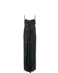 Vestido camisola efecto teñido anudado negro de Hansine