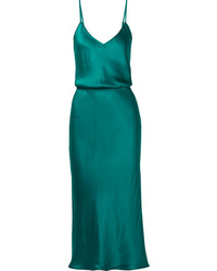 Vestido camisola en verde azulado