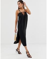 Vestido camisola negro de ASOS DESIGN