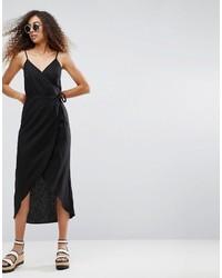 Vestido camisola negro de Asos