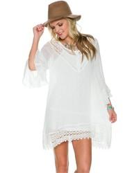 Vestido campesino blanco