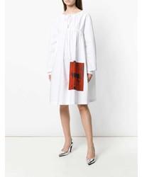 Vestido campesino blanco de Calvin Klein 205W39nyc