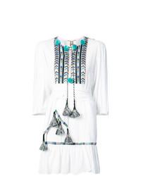 Vestido campesino bordado blanco de Figue