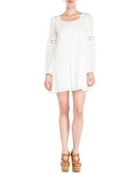 Vestido campesino de crochet blanco