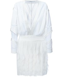 Vestido campesino de crochet blanco de Givenchy