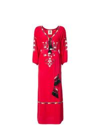Vestido campesino rojo de Figue