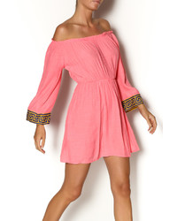 Vestido campesino rosa