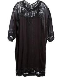 Vestido casual bordado negro de Etoile Isabel Marant