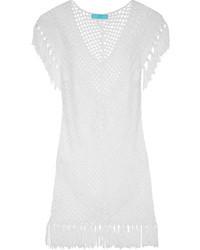 Vestido casual de crochet blanco