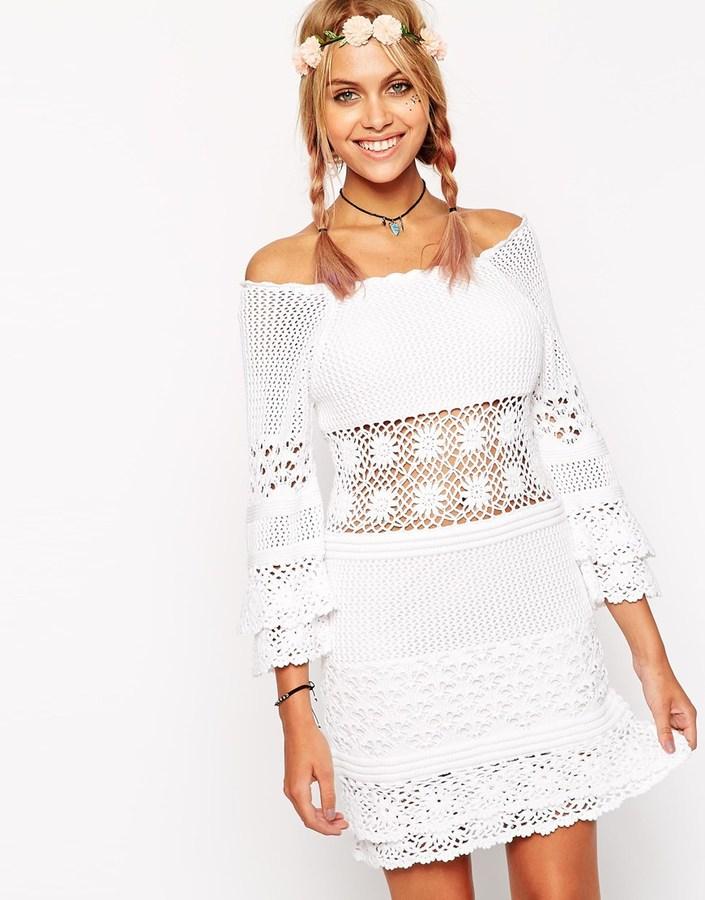Crochet De Vestido Casual Blanco Lookastic Asos€64Asos España dxBCoWQreE