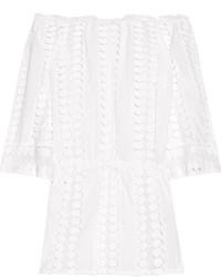 Vestido casual de crochet blanco de Miguelina