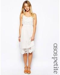Vestido casual de encaje blanco de Asos