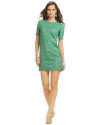 Vestido casual de encaje verde