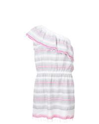 Vestido casual de rayas horizontales blanco de Lemlem