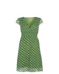 Vestido casual estampado verde