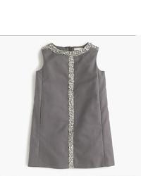 Vestido con adornos gris