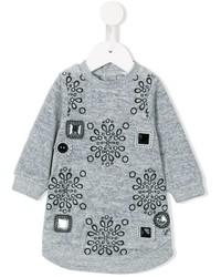 Vestido con adornos gris de Little Marc Jacobs