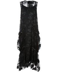 Vestido con adornos negro de Simone Rocha