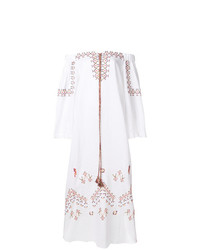 Vestido con hombros al descubierto bordado blanco de Ermanno Scervino
