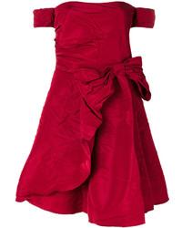 Vestido con hombros al descubierto rojo de RED Valentino