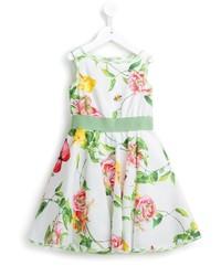 Vestido con print de flores blanco de MonnaLisa