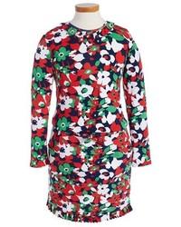 Vestido con print de flores en multicolor