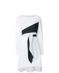 Vestido cruzado blanco de MM6 MAISON MARGIELA