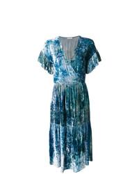 Vestido cruzado estampado azul de Masscob