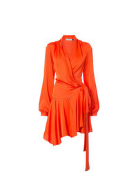 Vestido cruzado naranja