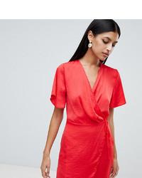 Vestido cruzado rojo de Missguided