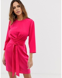 Vestido cruzado rosa de ASOS DESIGN