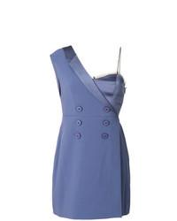 Vestido de esmoquin azul
