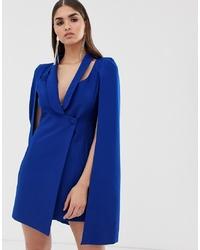 Vestido de esmoquin azul de Lavish Alice